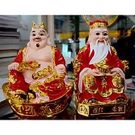 Bộ tượng hai ông Thần Tài Thổ Địa áo đỏ-Nhiều cỡ thumbnail