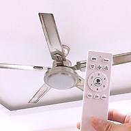 Quạt trần đèn led, điều khiển 6 số, 5 cánh thép, đảo chiều trực tiếp trên điều khiển, động cơ DC, tiết kiệm điện QTK1000 thumbnail
