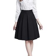 Chân váy đen ngắn đến ĐẦU GỐI XẾP LY thumbnail