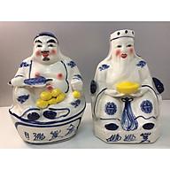 Cặp Tượng thần Tài thổ địa ( áo truyền thống xanh bát tràng cao cấp)dành cho ban thần tài thumbnail