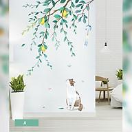 Decal trang trí chất liệu PVC loại 1 dày dặn, sắc nét, trang trí phòng khách, quán cafe- Mèo vàng- mã sp QR9425 thumbnail