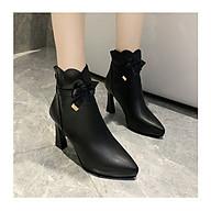 Giày boot nữ da trơn cao 9cm phong cách Hàn Quốc B147 thumbnail