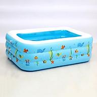 Bể bơi 3 tầng 1,3m đấy chống trượt cao cấp tặng kèm bơm (giao màu ngẫu nhiên) thumbnail