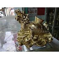 Long Quy ngồi trên tiền cõng vàng nhỏ bằng đồng thumbnail