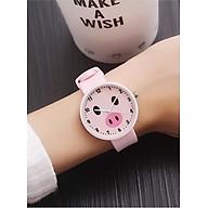 Đồng hồ nữ Ulzzang heo ủn xinh xắn dây silicon cao cấp thumbnail