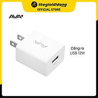 Adapter sạc USB 12W AVA+ ASUC01 - Hàng Chính Hãng thumbnail