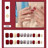 Bộ 24 móng tay giả nail thời trang (như hình-R-098) thumbnail