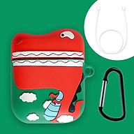 Bộ phụ kiện vỏ bao silicon 3D bảo vệ có kèm móc khoá và dây nối chống rớt, chống mất cho tai nghe Apple Airpods thumbnail
