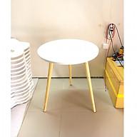Bàn trà, bàn ăn tròn trắng 60x72, bàn cafe phòng khách, bàn coffee, bàn gỗ cà phê thumbnail