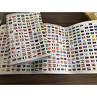 Bộ 295 Cờ gồm Quốc Kỳ Các Nước Trên Thế Giới và 50 Bang của Hoa Kỳ , loại răng cưa , có thể xé rời thumbnail