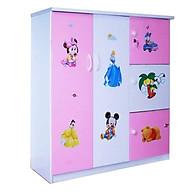 Tủ nhựa Đài Loan 2 cánh 3 ngăn T306 màu hồng thumbnail