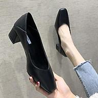 Giày Cao Gót Nữ Mũi Vuông Sang Trọng, Da Mềm, Đế 5cm, Mang Đi Làm, Dự Tiệc GN17 thumbnail