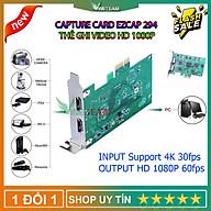 EZCAP 294 Thẻ hộp ghi video cho OBS Live Broadcast Webcast full HD 1080P Video Capture Game Live Card PCI-E 4K 30P HDMI Tương Thích Với Các Hệ Thống Windows Mac Linux -4469- Hàng Nhập Khẩu thumbnail
