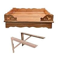 Combo bàn thờ treo tường + giá đỡ dùng cho nhà chung cư 4T PT0234(40 cm x 40 cm x 12 cm) thumbnail