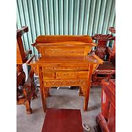bàn thờ gia tiên 2 tầng gỗ tràm bông vàng thumbnail