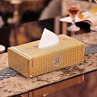 Hộp đựng giấy ăn chữ nhật sứ xương cap cấp phong cách Châu Âu sang trọng - ANTH509 thumbnail