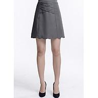 Chân váy công sở dáng a, phối dây đan LAMER L62R18Q002-S1100 (Xám) thumbnail