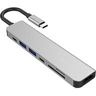 Hub USB Type-C 7in1 Cổng HDMI 4K 60Hz USB 3.0 SD TF PD 50538 - 7in1-1 60Hz thumbnail