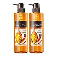 Bộ dầu gội dưỡng ẩm cung cấp dưỡng chất mật ong Hair Recipe 2 chai thumbnail