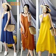Váy Hai Dây Dáng Suông Rộng Thiết Kế Hở Vai Nữ Tính, Đầm Hai Dây Cho Nữ thumbnail