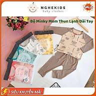 Đồ Bộ Bé Trai, Bé Gái Minky Mom Vải Thun Lạnh Bộ Dài Tay Cho Bé Mặc Nhà Bộ Quần Áo Trẻ Em thumbnail