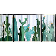 TRANH DECAL dán tường kệ xương rồng 3 tầng trang trí phù hợp mọi không gian phòng nhà bạn HAOD 90 60cm thumbnail