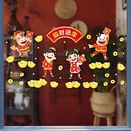 Decal trang trí nhà cửa, tết- Trâu vàng chúc tết- NAMJ923 thumbnail