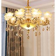Đèn chùm pha lê TELT phong cách hiện đại, sang trọng, độc đáo - kèm bóng LED chuyên dụng. thumbnail