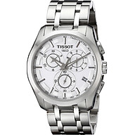 Tissot Men s Couturier White Dial Stainless Steel Watch T035.617.11.031.00 thumbnail