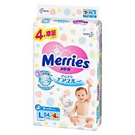 Tã dán Merries nội địa cộng miếng size L54+4 (9-14kg) thumbnail