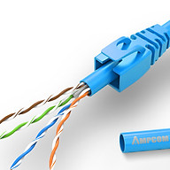 Cuộn dây cáp mạng Ampcom Cat6 UTP 305m dây màu blue orange, tiết diện 0.4mm 0.57mm - Hàng Chính Hãng thumbnail