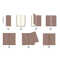 Portable Leather Notebook Blank Page, Travel Journal Diary Notes thumbnail
