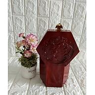 Hộp đựng gói trà gỗ hương trạm mặt tích chim hoa loại lớn - HTT16 thumbnail