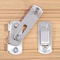 Chốt khóa cài cửa an toàn chất liệu thép không gỉ cao cấp tiện dụng (7x5cm) thumbnail