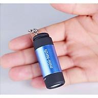 Móc khóa đèn pin mini siêu sáng sạc cổng USB tiện dụng (Màu ngẫu nhiên) - (Tặng kèm miếng thép đa năng 11in1) thumbnail
