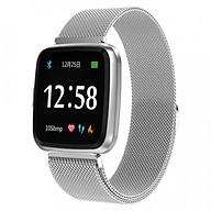 Đồng hồ thông minh theo dõi sức khỏe smartwatch Colmi Y7P dây thép (Bạc) - Hàng Chính Hãng thumbnail