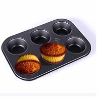 Khuôn cupcake chống dính cao cấp 6 -12 ô lớn Khuôn nướng bánh muffin thumbnail