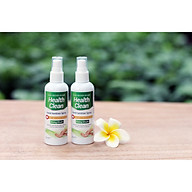 2 chai xịt rửa tay khô hương quế Health Clean 100ml diệt 99.9% vi khuẩn làm sạch, mềm da thumbnail