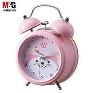 Đồng hồ báo thức M&G reo to bằng chuông cơ học cho sinh viên màu trắng vàng hồng ARC92503 thumbnail