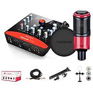 Combo thu âm, livestream souncard icon upod pro, mic PC-K320, tai nghe TS 2260 kèm đầy đủ phụ kiện - hàng chính hãng thumbnail