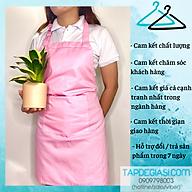 Tạp dề trơn màu hồng chất liệu kaki dành cho nam nữ đầu bếp, pha chế thumbnail