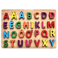 Đồ chơi bảng chữ cái Tiếng Việt bằng gỗ thumbnail