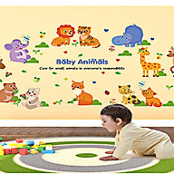 decal dán tường cho bé vòng tròn thú cưng baby animal sk9104 thumbnail