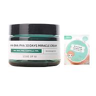 Kem Dươ ng Gia m Mu n Some By Mi AHA-BHA-PHA 30 Days Miracle Cream 50ml tặng kèm mũ trùm tóc siêu xinh thumbnail