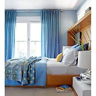 Rèm cửa vải LUCYM39-17 có thanh treo hợp kim nhôm màu vàng đồng đầu nhọn - cao cố định 1m4 thumbnail