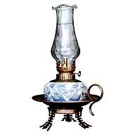 Đèn thờ dầu men rạn chân đồng dáng đĩa gốm sứ Bát Tràng (đèn dầu, đèn thờ cúng) thumbnail