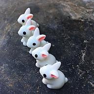 Thỏ trắng trang trí bộ 5 con thumbnail