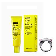 Gel hỗ trợ giảm mụn và ngăn ngừa mụn By Wishtrend Sulfur 3% Clean Gel 30g + Tặng Kèm 1 Băng Đô Tai Mèo (Màu Ngẫu Nhiên) thumbnail