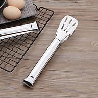 Dụng cụ Kẹp gắp đồ ăn bằng thép không gỉ Cao Cấp - Loại lỗ 3 vạch dọc thumbnail