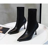 Giày Boot nữ gót mảnh thời trang cao cấp - Giày Boot gót nhọn cao 8cm - Linus LN228 thumbnail